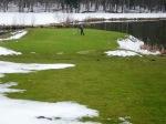 śnieg na greenie